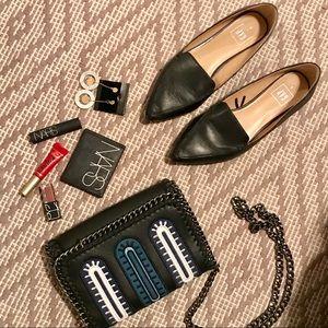 GAP Black Faux Leather Flats
